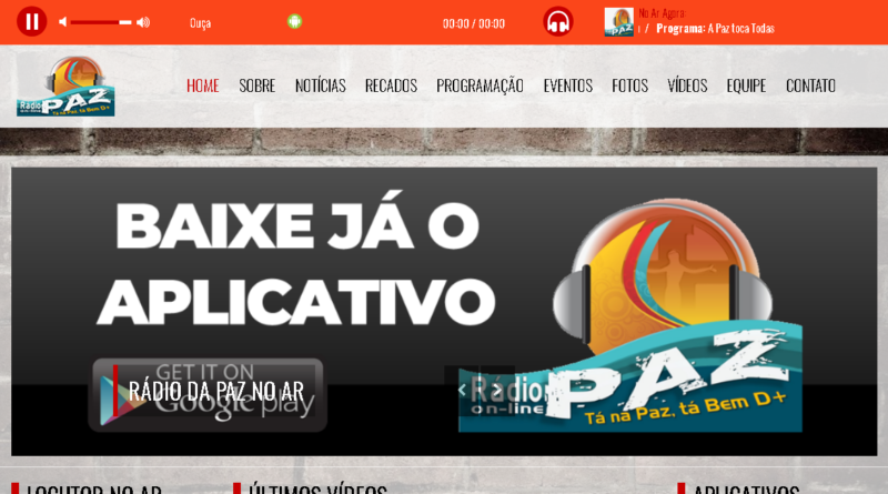 Rádio da Paz on-line no ar